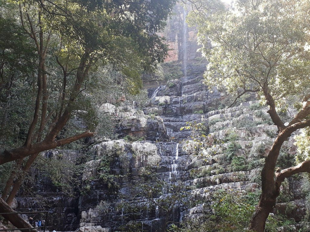 Forest waterfalls view in Talakona