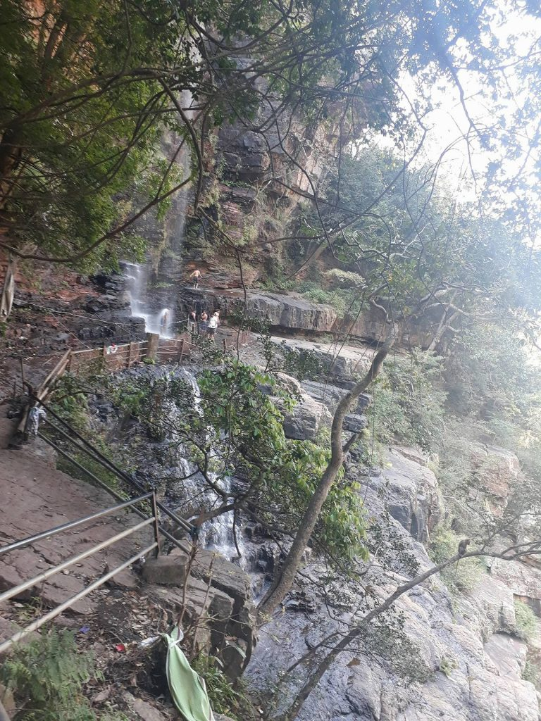 Talakona waterfalls in summer season