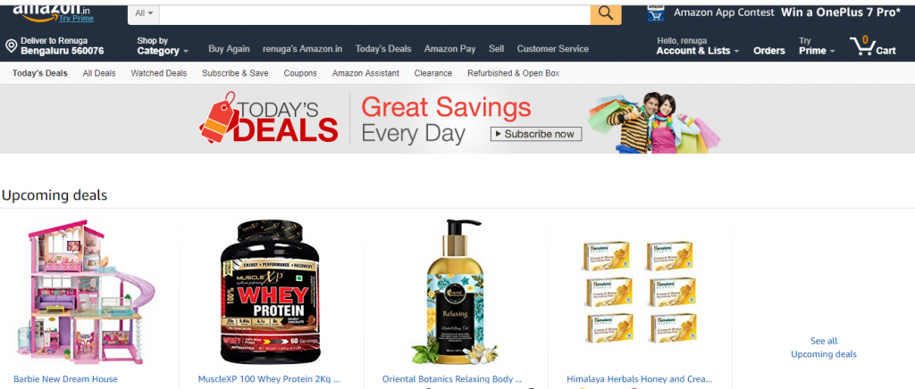 Amazon Upcoming deals and discounts