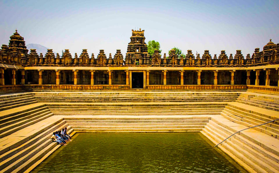 Pushkarni or Temple Pond in Bogha Nandeeshwara Temple