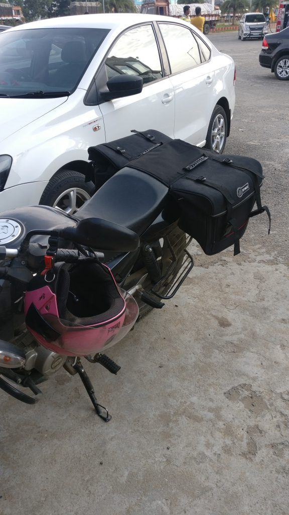 our motorbike for southindia travel - travel blog