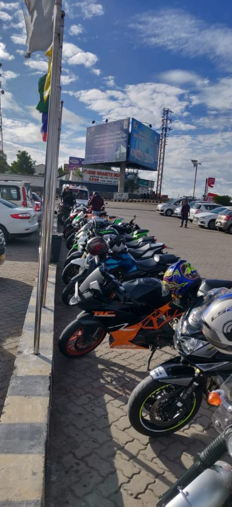 bikers meet in Bangalore highways restaurant called Krishna Inn