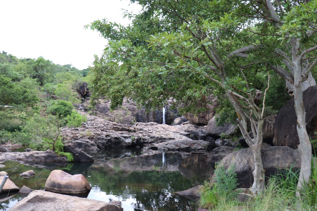 2 mins walk to Agasthiyar falls from parking area, scenic view